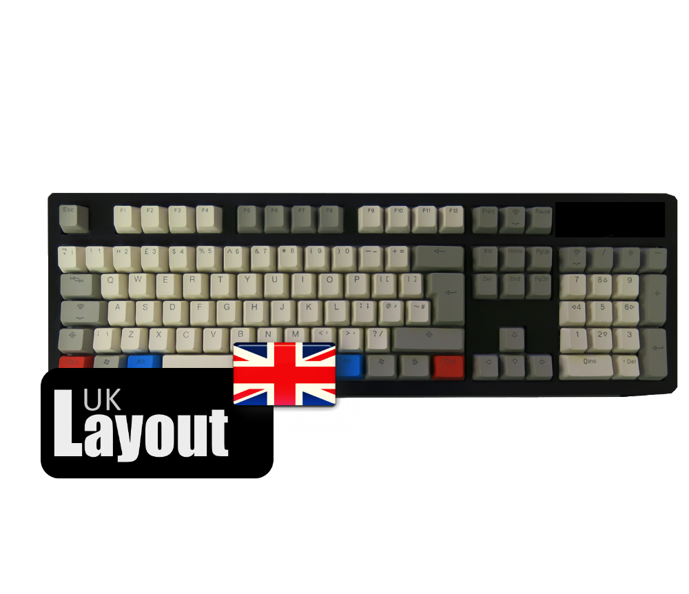 Tai-Hao ABS Backlit Double Shot Keycaps Vintage Grey UK